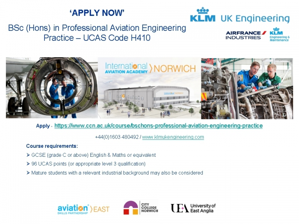 BSc (Hons) Professional Aviation Engineering Practice